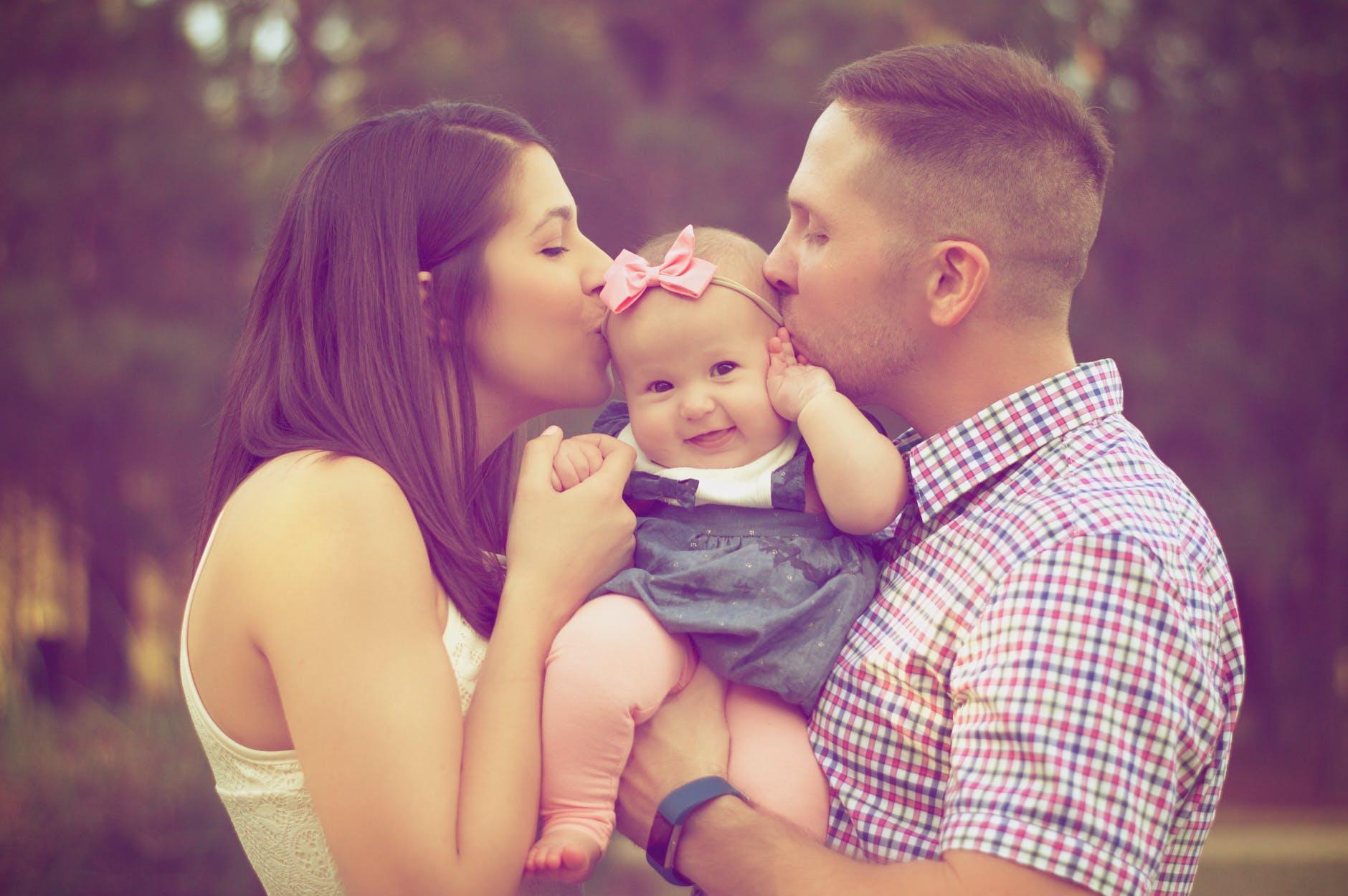 Baby og forældre