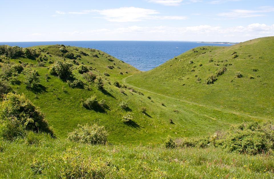 Smukt landskab på Samsøe